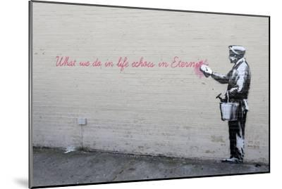 Echoes-Banksy-Mounted Premium Giclee Print