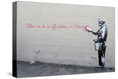 Echoes-Banksy-Stretched Canvas Print
