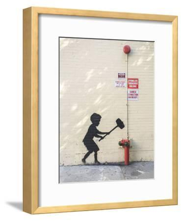Better Out Than In-Banksy-Framed Giclee Print