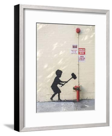 Better Out Than In-Banksy-Framed Premium Giclee Print