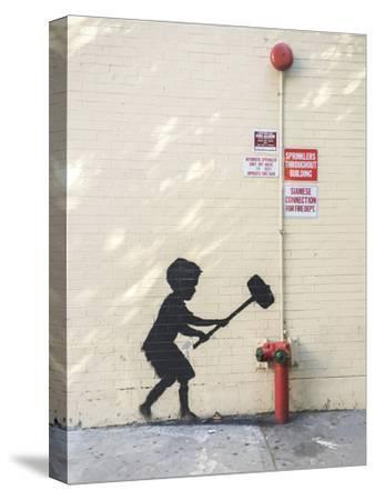 Better Out Than In-Banksy-Stretched Canvas Print
