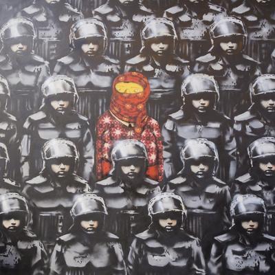 24th Street #2-Banksy-Framed Premium Giclee Print