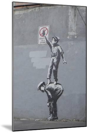 Graffiti Is a Crime-Banksy-Mounted Premium Giclee Print