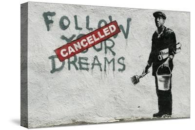Cancelled Dreams-Banksy-Stretched Canvas Print