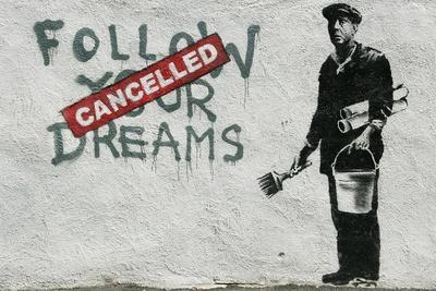 Cancelled Dreams-Banksy-Framed Premium Giclee Print