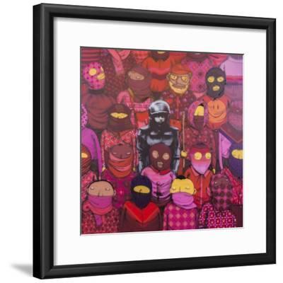 24th Street #1-Banksy-Framed Premium Giclee Print