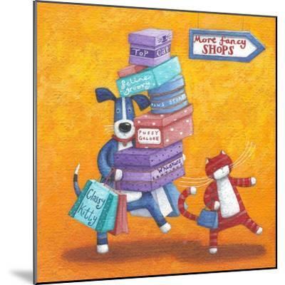 Shop Till He Drops-Peter Adderley-Mounted Art Print