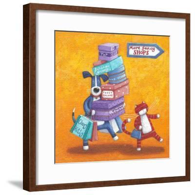 Shop Till He Drops-Peter Adderley-Framed Art Print