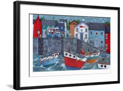 Seaside Promenade-Peter Adderley-Framed Art Print