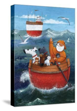 Animal Boat Adventure-Peter Adderley-Stretched Canvas Print