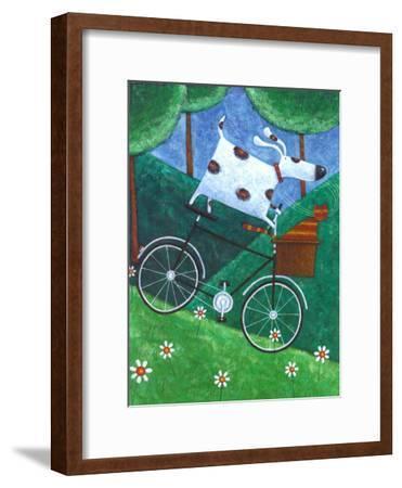 Duke's Bike Ride-Peter Adderley-Framed Art Print