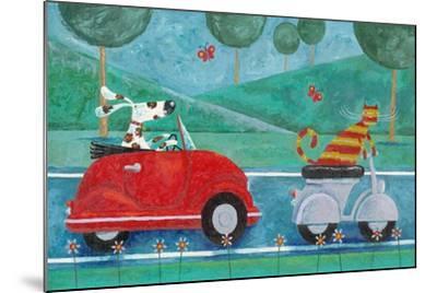 On the Road with Duke and Sweetpea-Peter Adderley-Mounted Art Print
