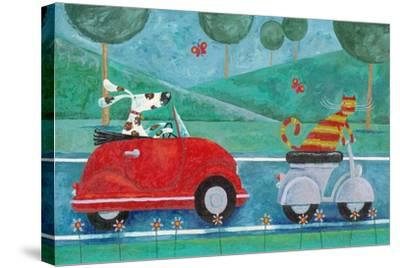 On the Road with Duke and Sweetpea-Peter Adderley-Stretched Canvas Print