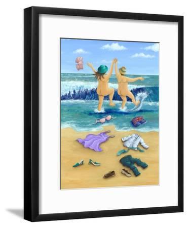 Skinny Dippers-Peter Adderley-Framed Art Print