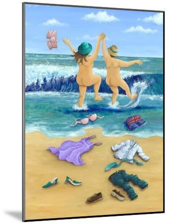 Skinny Dippers-Peter Adderley-Mounted Art Print