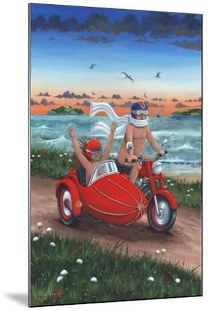 Motorbike and Sidecar-Peter Adderley-Mounted Art Print