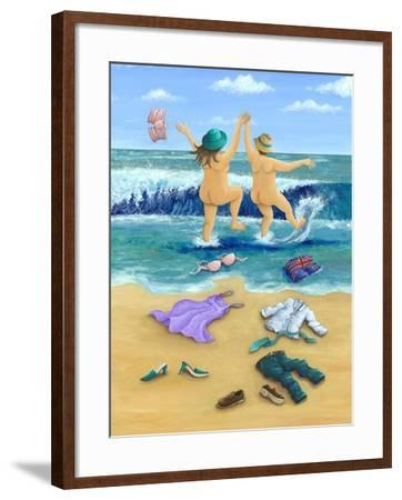 Skinny Dippers-Peter Adderley-Framed Art Print