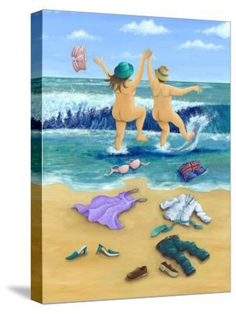 Skinny Dippers-Peter Adderley-Stretched Canvas Print