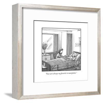 """""""You were always my favorite to manipulate."""" - New Yorker Cartoon-Harry Bliss-Framed Premium Giclee Print"""