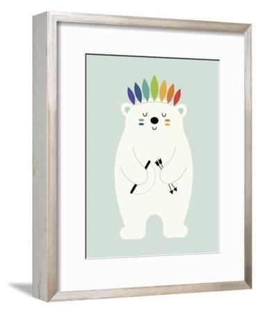 Be Brave Polar-Andy Westface-Framed Giclee Print