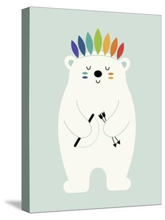 Be Brave Polar-Andy Westface-Stretched Canvas Print
