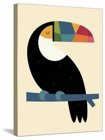 Rainbow Toucan-Andy Westface-Stretched Canvas Print