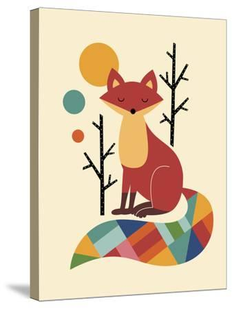 Rainbow Fox-Andy Westface-Stretched Canvas Print