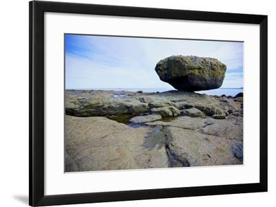 Balance Rock on the East Coast of Graham Island. it Is a Glacial Erratic from the Last Ice Age-Richard Wright-Framed Photographic Print
