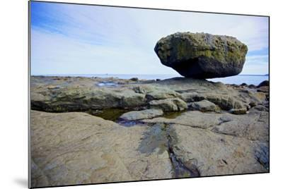 Balance Rock on the East Coast of Graham Island. it Is a Glacial Erratic from the Last Ice Age-Richard Wright-Mounted Photographic Print