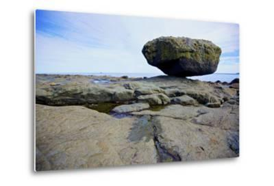 Balance Rock on the East Coast of Graham Island. it Is a Glacial Erratic from the Last Ice Age-Richard Wright-Metal Print
