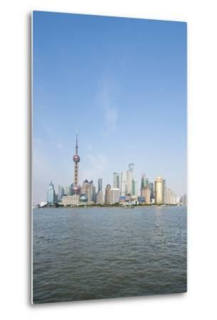 Pearl Tower over Pudong District Skyline and Huangpu River, Shanghai, China-Michael DeFreitas-Metal Print
