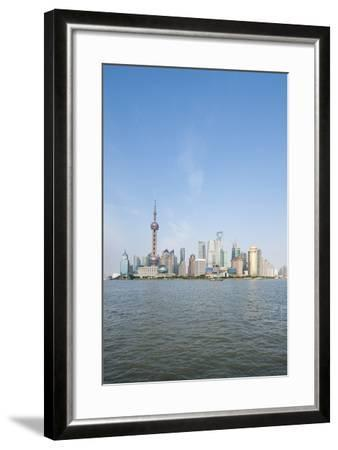 Pearl Tower over Pudong District Skyline and Huangpu River, Shanghai, China-Michael DeFreitas-Framed Photographic Print