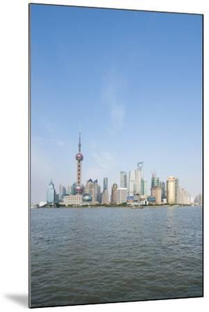 Pearl Tower over Pudong District Skyline and Huangpu River, Shanghai, China-Michael DeFreitas-Mounted Photographic Print