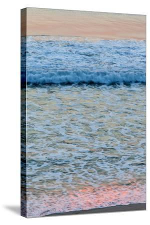 Dawn Colors Reflect in the Surf on Marconi Beach in the Cape Cod National Seashore-Jerry and Marcy Monkman-Stretched Canvas Print
