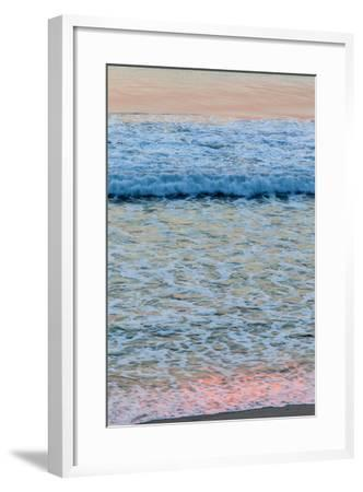 Dawn Colors Reflect in the Surf on Marconi Beach in the Cape Cod National Seashore-Jerry and Marcy Monkman-Framed Photographic Print