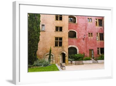 The Lawyers House in Old Town Vieux Lyon, France-Russ Bishop-Framed Photographic Print