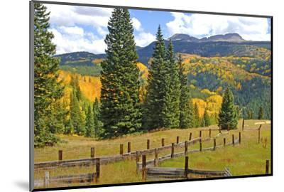 Old Wooden Fence and Autumn Colors in the San Juan Mountains of Colorado-John Alves-Mounted Photographic Print