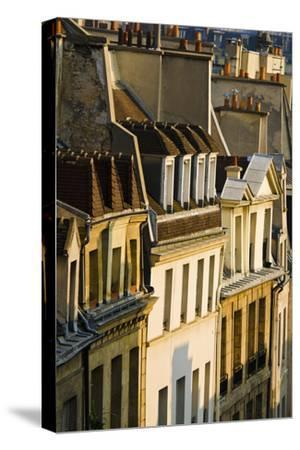 Morning Light on Houses in the Latin Quarter, Paris, France-Russ Bishop-Stretched Canvas Print