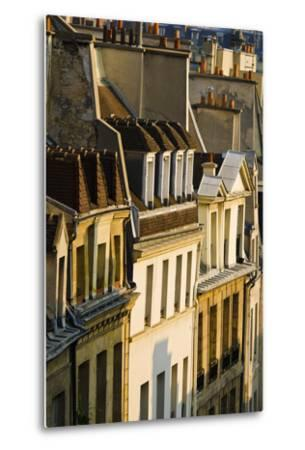 Morning Light on Houses in the Latin Quarter, Paris, France-Russ Bishop-Metal Print