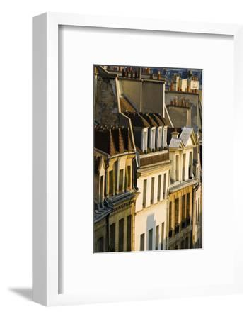 Morning Light on Houses in the Latin Quarter, Paris, France-Russ Bishop-Framed Photographic Print