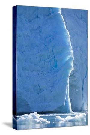 Norway, Svalbard, Ice at the Base of the Monacobreen Glacier-Ellen Goff-Stretched Canvas Print