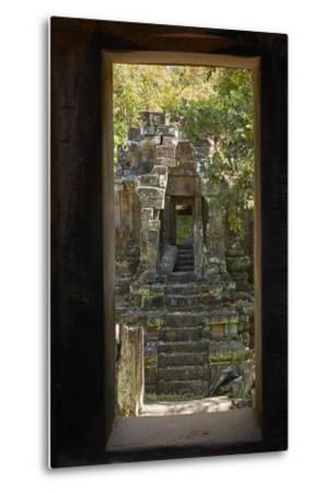 North Khleang Temple, Angkor Thom, Angkor World Heritage Site, Siem Reap, Cambodia-David Wall-Metal Print