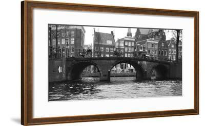 Amsterdam Buildings by Canal with Bridge-Anna Miller-Framed Photographic Print