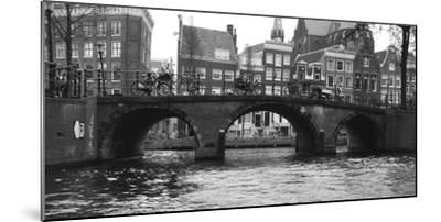 Amsterdam Buildings by Canal with Bridge-Anna Miller-Mounted Photographic Print