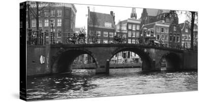 Amsterdam Buildings by Canal with Bridge-Anna Miller-Stretched Canvas Print