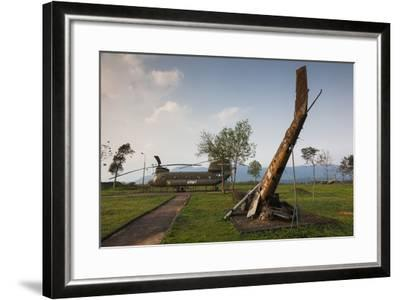 Vietnam, Dmz Area. Quang Tri Province, Khe Sanh, Fch-47 Chinook Helicopter-Walter Bibikow-Framed Photographic Print