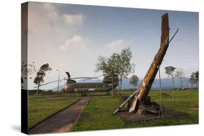 Vietnam, Dmz Area. Quang Tri Province, Khe Sanh, Fch-47 Chinook Helicopter-Walter Bibikow-Stretched Canvas Print