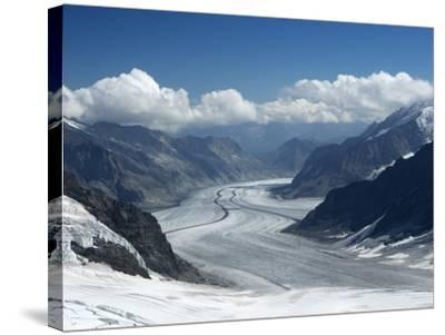 Switzerland, Bern Canton, Jungfraujoch, Aletsch Glacier-Jamie And Judy Wild-Stretched Canvas Print