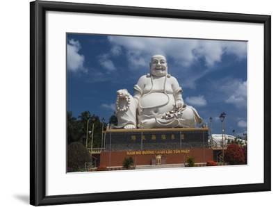 Vietnam, Mekong Delta. My Tho, Vinh Trang Pagoda, Giant Sitting Buddha Statue-Walter Bibikow-Framed Photographic Print