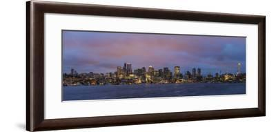 City Skyline from Gasworks Park and Lake Union in Seattle, Washington State, Usa-Chuck Haney-Framed Photographic Print